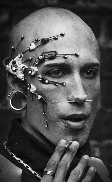 futuristic look, futuristic boy, cyberpunk, cyber punk