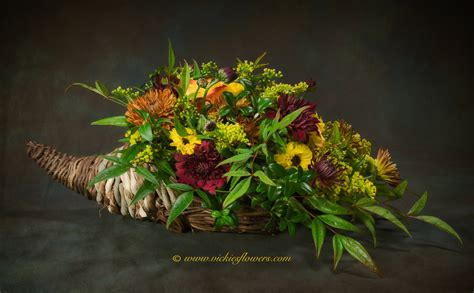 fall thanksgiving flowers candle centerpieces vickies