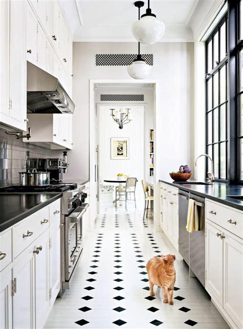 cuisine sol blanc vous cherchez des idées pour un carrelage noir et blanc