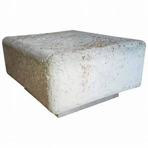 Natural Faux Coral Stone Fossilized Coffee Table For Sale ...