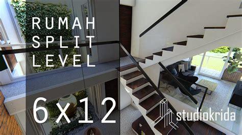 desain rumah split level    youtube
