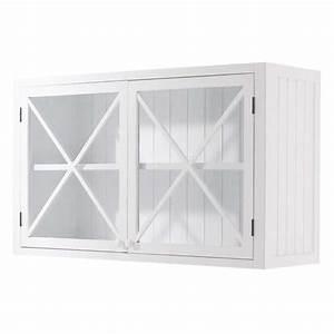 Meuble Haut Vitré Cuisine : meuble haut vitr de cuisine en pin blanc l 120 cm newport ~ Teatrodelosmanantiales.com Idées de Décoration