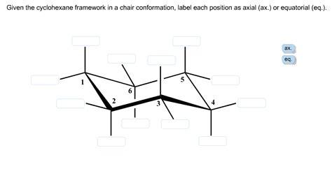 given the cyclohexane framework in a chair conform