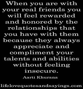 Real Friends... Love this! Only fake friends get jealous ...