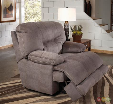 Oversized Recliners by Noble Slate Gray Lay Flat Cuddler Recliner Oversized