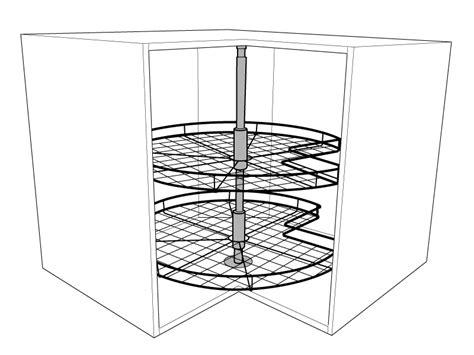 kitchen corner cabinet carousel 3 4 corner carousel for corner base units solid wood 6595