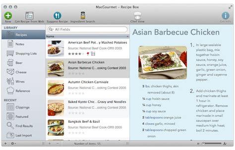 logiciel recette cuisine macgourmet 4 synchronise ses recettes avec l iphone