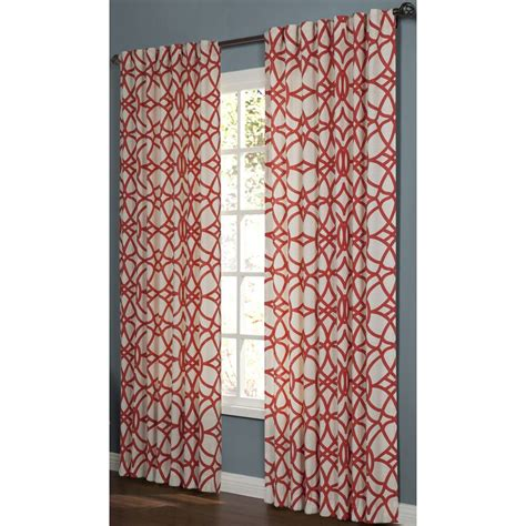allen roth oberlin curtains shop allen roth oberlin 95 in paprika cotton back tab