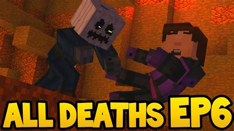 minecraft story mode  death scenes episode  youtube