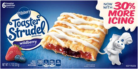 Toaster Strudel In The Oven - pillsbury toaster strudel wildberry toaster pastries 6 ct