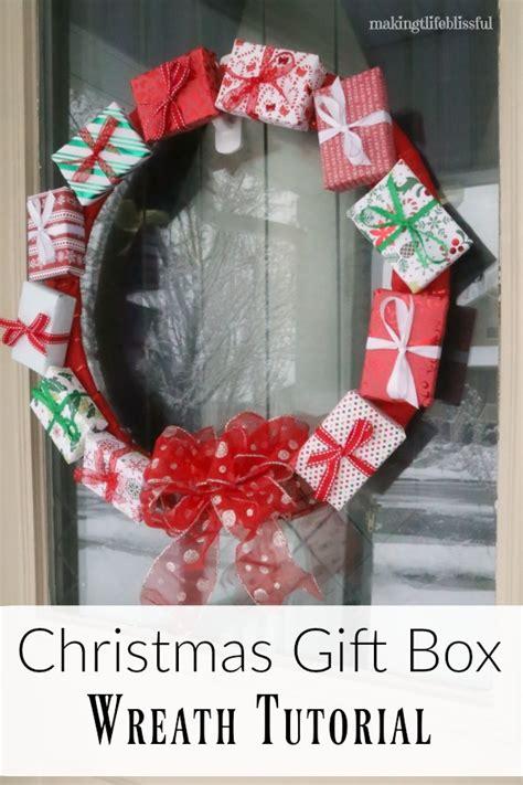 gift box wreath tutorial making life blissful