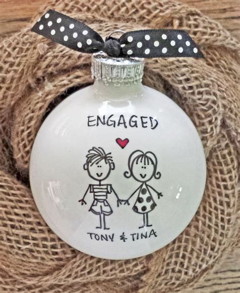 beautiful christmas engagement ornaments brasslook