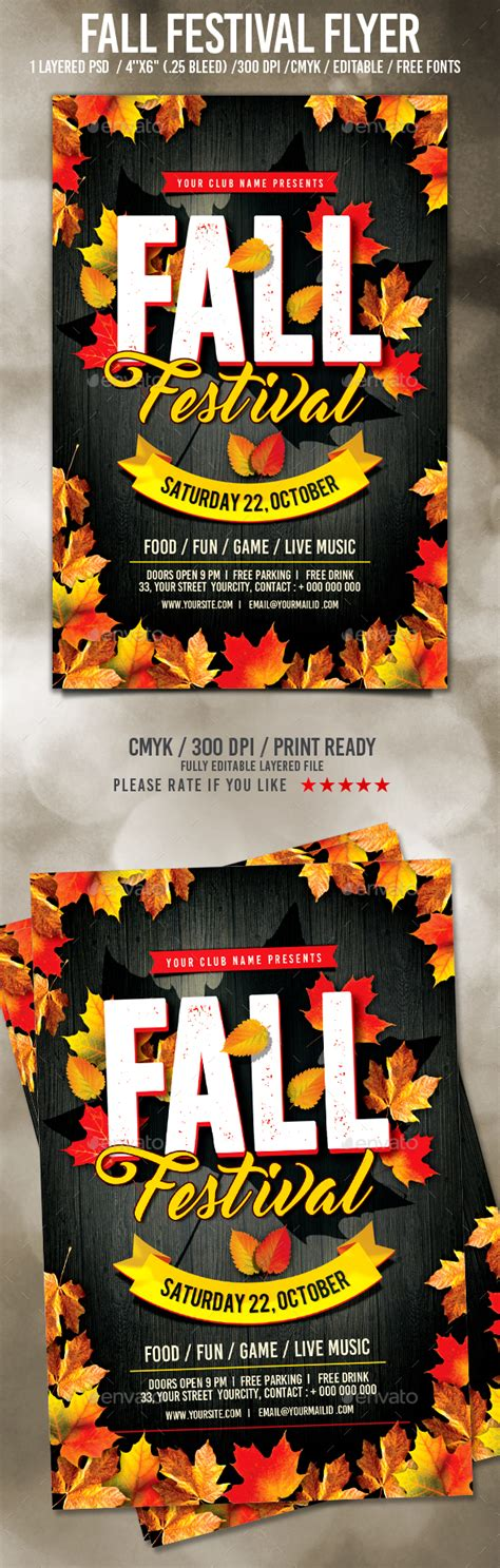 fall festival flyer template fall festival flyer by pixelyes graphicriver