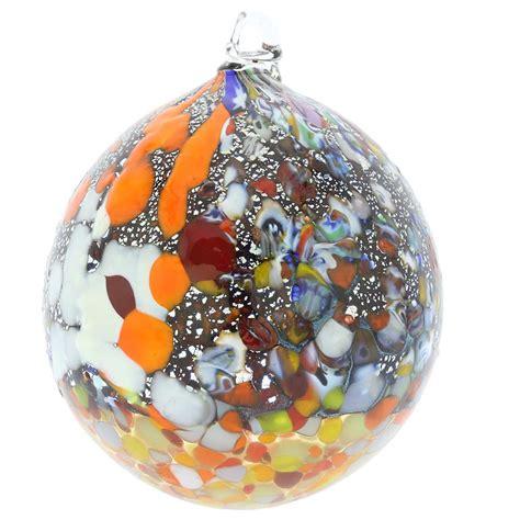 christmas tree ornaments millefiori silver foil murano