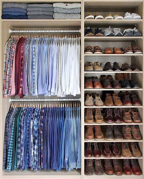 ideas  mens closet organization  pinterest
