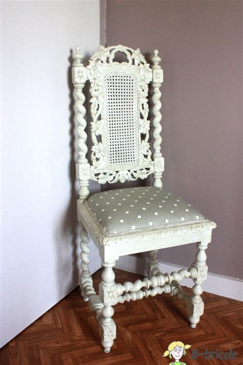 chaise henri ii blanche relooking sièges