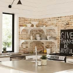 Painting Over Painted Cabinets by Exposed Brick Wall Design Decor Photos Pictures