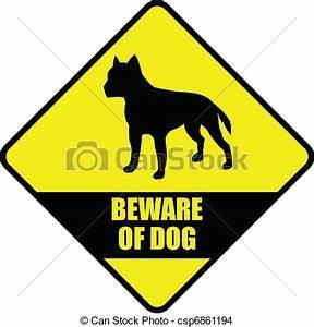 """EPS vector de Tenga cuidado, perro """"beware, de, dog"""", señal, , vector csp6861194 Buscar"""