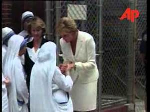 Princess Diana with Mother Teresa in NYC - YouTube