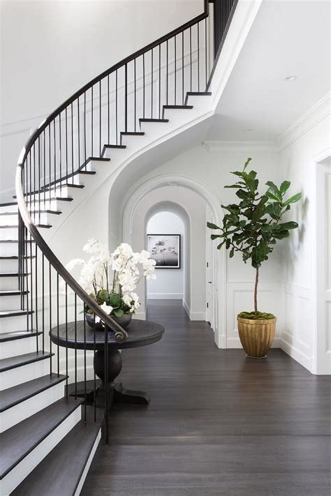 curved staircase wall  black  table