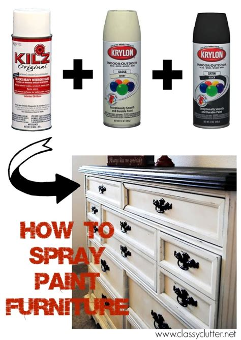 how to spray paint furniture clutter