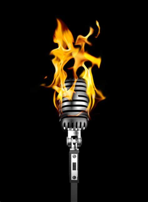 burning mic session photo file  freeimagescom