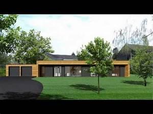 Maison Ossature Bois Toit Plat : montage en une journ e d 39 une maison ossature bois booa youtube ~ Melissatoandfro.com Idées de Décoration