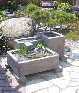 terrassenbrunnen wasserspiel werksandstein stein 262kg ebay With französischer balkon mit wasserspiele im garten anlegen