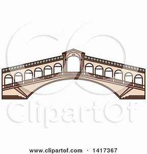 Clipart of a Italian Landmark, Rialto Bridge - Royalty ...
