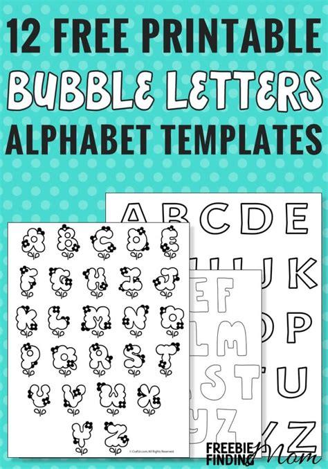 printable bubble letters alphabet templates