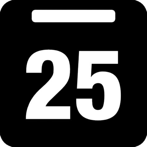 25 s day day 25 on daily calendar icons free download