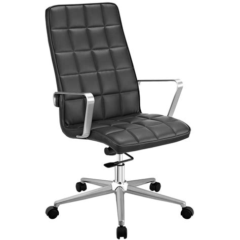 tile high back vinyl upholstered office chair with tilt