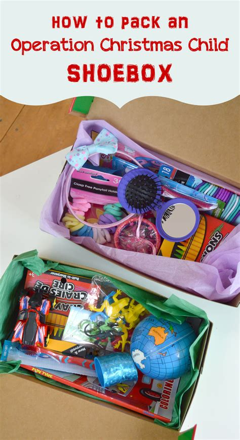 how to pack an operation christmas child shoebox mommy scene