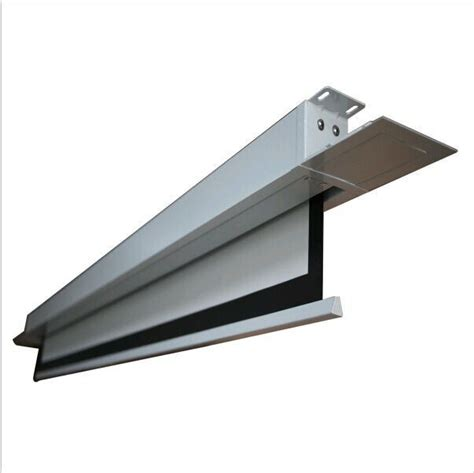 source hidden  ceiling electric projection screen