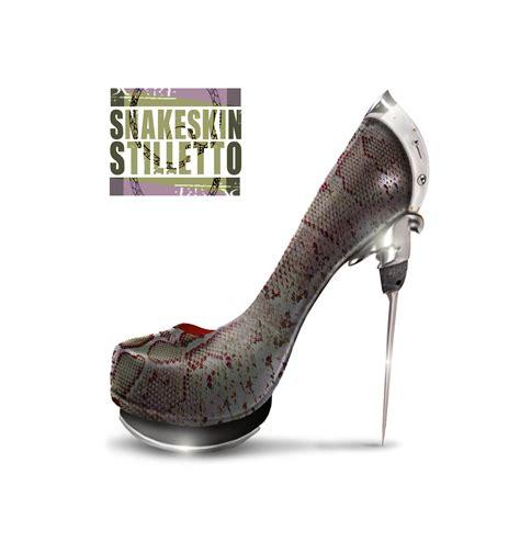 design a shoe snakeskin stilletto one shoe design for cd cover