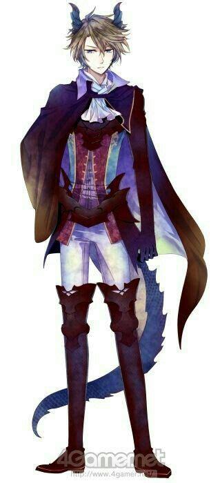 Anime Boy Demon Horns Tail Cloak Cool Anime Guys
