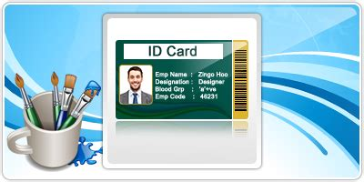 id card maker software generates employee student visitor