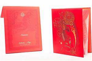royal indian wedding invitation with painted scenery With royal hindu wedding invitations
