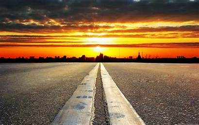 Road Chill Cool Wallpapers Backgrounds Country Sunset