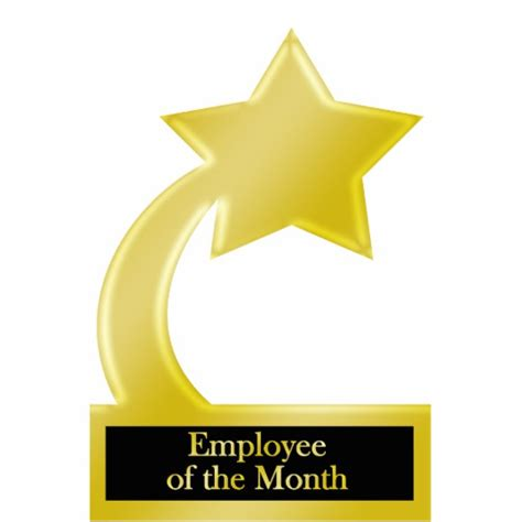Employee of the Month, Gold Star Award Trophy Cutout ...