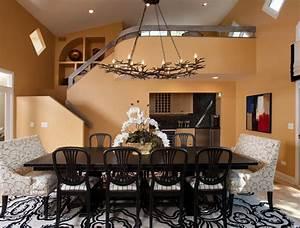 Lustre Salle A Manger : 12 somptueuses salles manger avec un lustre en ramures bricobistro ~ Teatrodelosmanantiales.com Idées de Décoration