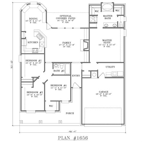 4 bedroom floor plans 2 story 4 bedroom