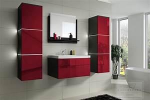 Ebay Badmöbel Hochglanz : badm bel set lux keramik badezimmerm bel rot hochglanz led ~ Watch28wear.com Haus und Dekorationen