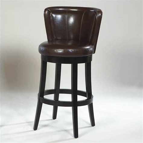 armen living lisbon 30 quot bycast leather swivel brown bar