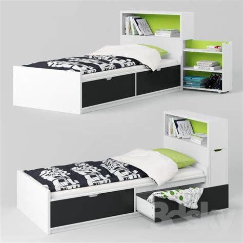 3d Models Bed  Ikea Flaxa (bed + Headboard)  New Home