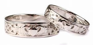 irish 9 ct white gold claddagh wedding ring set celtic With claddagh wedding ring set
