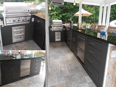weatherproof outdoor kitchen cabinets happy outdoor kitchen customer in new york outdoor 7025