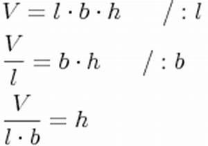 Höhe Eines Quaders Berechnen : volumen des quaders berechnung der h he ~ Themetempest.com Abrechnung