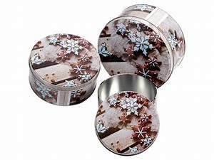 Boite A Gateau Metal : set de 3 bo tes g teaux biscuits de no l ronde en m tal ~ Teatrodelosmanantiales.com Idées de Décoration