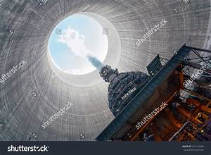 Thermal Power Plant Large Chimney Stock Photo 231142564 ...